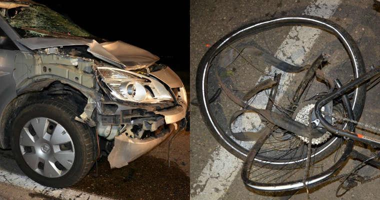 Wypadek z rowerzystami pod Raciborzem. Fot. policja