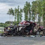 23 czerwca w wypadku spowodowanym przez kierowcę jadącego pod prąd na drodze ekspresowej S3 zginęły dwie osoby. Fot. policja