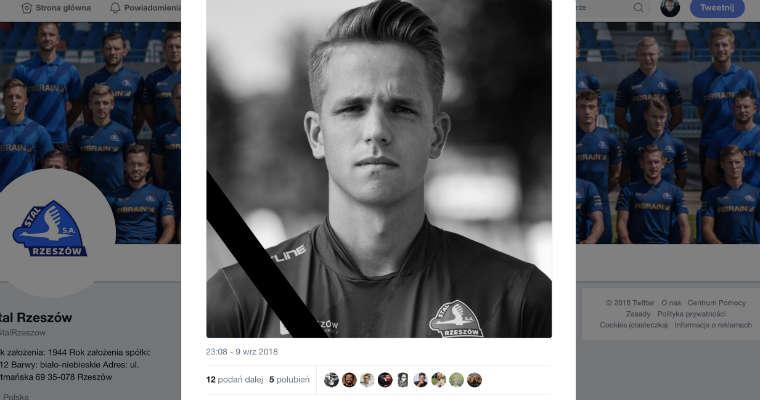 Krystian Popiela, zawodnik Stali Rzeszów zginął w wypadku na A4. Zrodło: Twitter