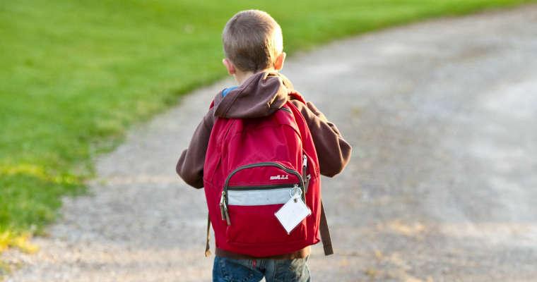 Uczeń z plecakiem. Fot. CC0