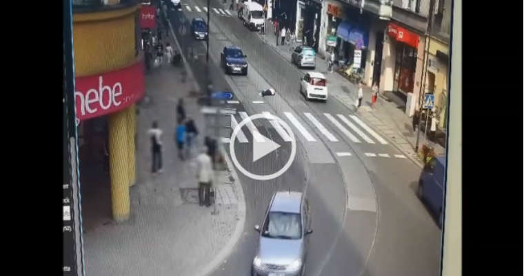 Potrącenie pieszej w Gliwicach. Źródło: Policja