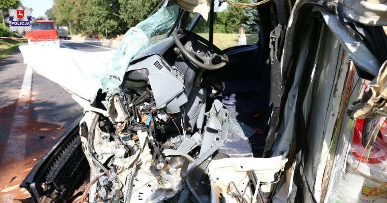 Tragiczny wypadek busów na DK12. Fot. policja