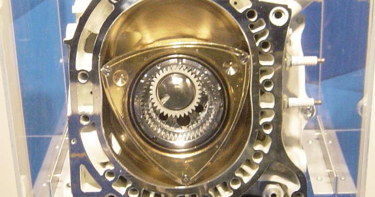 Silnik Wankla w muzeum Mazdy. Fot. Taisyo/CC ASA 3.0