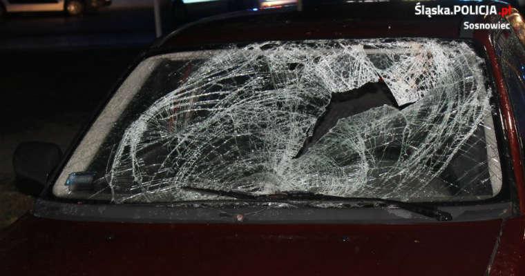 Kierowca śmiertelnie potrącił pieszą w Sosnowcu. Fot. Policja
