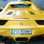 Ferrari biorące udział w śmiertelnym wypadku na Słowacji. Fot. Słowacka Policja