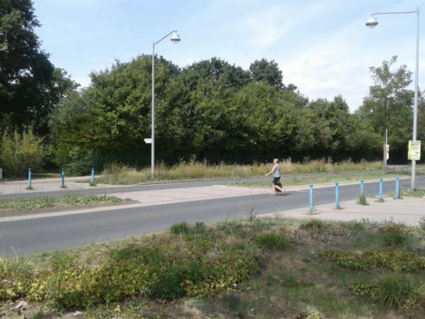 Niemcy, przejście dla pieszych typu Niemcy, przejście dla pieszych typu Fußgängerfurt. Fot. Wiesław Migdałek