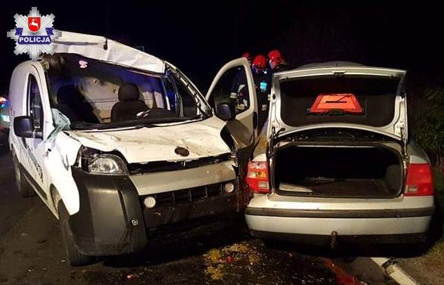 Samochody zniszczone w wypadku w miejscowości Sabaudia. Fot. Policja