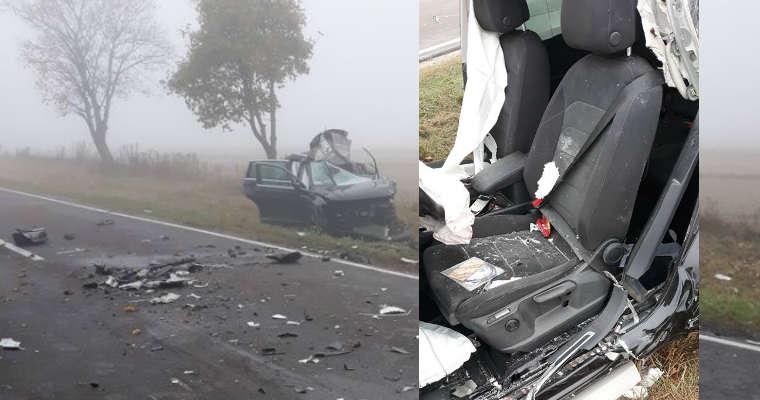 Wypadek na Podkarpaciu. Pas kierowcy napięty po wypadku wskazuje, że zapięty był za plecami prowadzącego pojazd