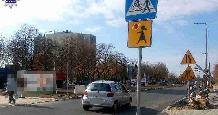 Przejście dla pieszych na ul. Racławickiej w Świdniku, na którym została potrącona piesza. Fot. Policja