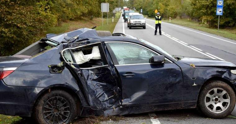Wypadek śmiertelny w Szpęgawsku. Fot. Policja