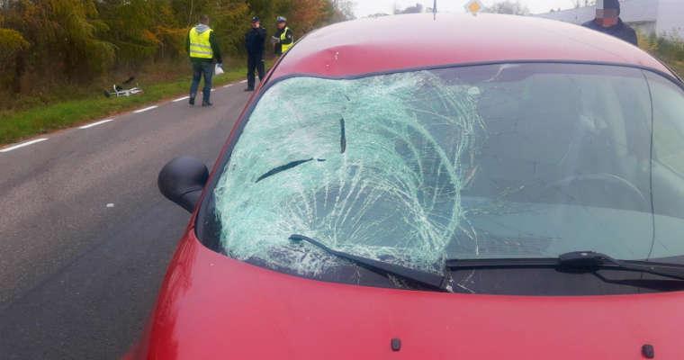 Kierowca śmiertelnie potrącił rowerzystę w miejscowości Pawłowice. Fot. policja