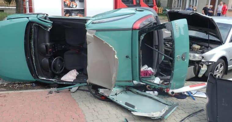 Wypadek w Zawierciu. Fot. Policja