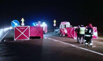 W Sarnowie kierowca hyundai tucson potrącił trzy kobiety na przejściu dla pieszych. Dwie zginęły, jedna jest ciężko ranna. Fot. Policja