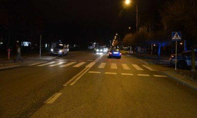 W Białej Podlaskiej kierowca potrącił dwie dziewczynki na przejściu dla pieszych. Fot. Policja