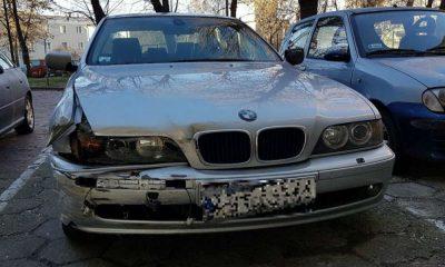Kierowca BMW wjechał w sklep w Stalowej Woli. Fot. Policja
