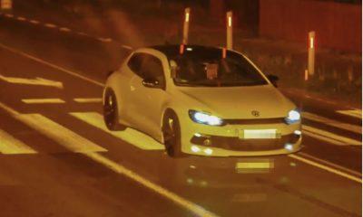 Kierowca złapany przez fotoradar na jeździe 221 km/h. Fot. CANARD