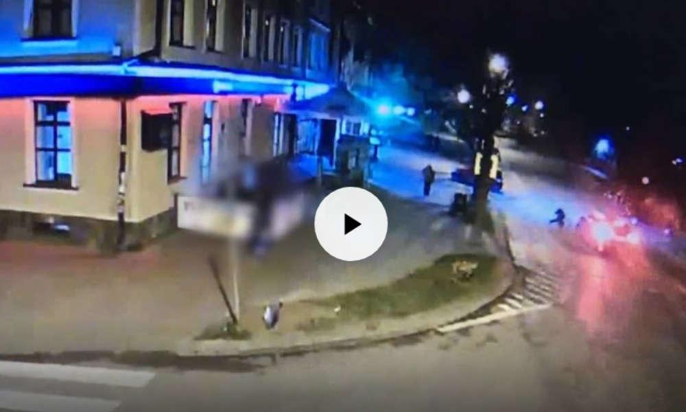 Potrącenie pieszego w Olecku. Fot. Policja