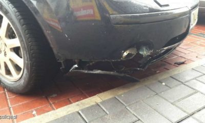 Trzylatek wjechał samochodem w witrynę sklepu w Namysłowie Fot. Policja
