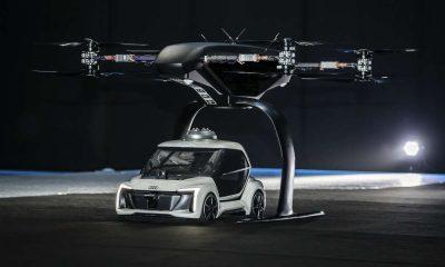 Połączenie autonomicznego elektrycznego samochodu i drona - model pokazany podczas targów w Amsterdamie. Fot. mat. prasowe