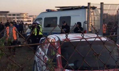 Wypadek podczas Rajdu Barbórka w Warszawie. Źródło: TVP3/Twitter
