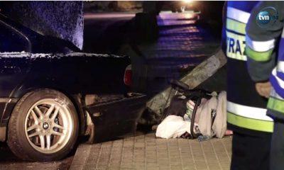 20-latek w BMW wjechał w sześcioosobową rodzinę na chodniku. Źródło: TVN24