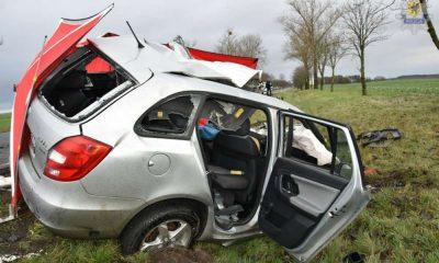 30-letni kierowca fabii nie przeżył zderzenia z ciężarówką Fot. Policja