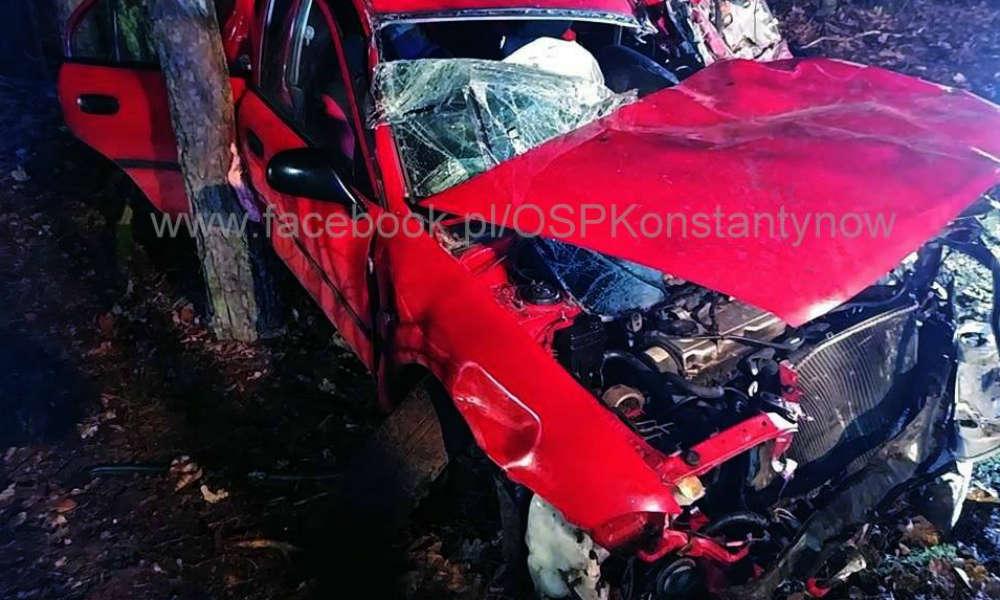 Wypadek w miejscowości Prusinowiczki. Fot. OSP Konstantynów
