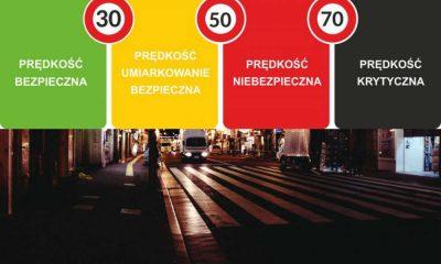 Przejście dla pieszych i komunikat policji Fot. CC0