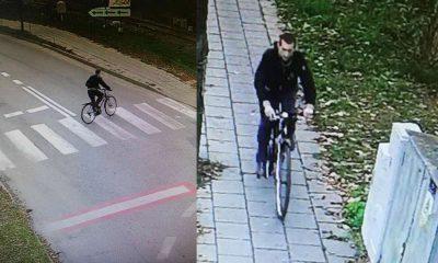 Rowerzysta z Wągrowca, który potrącił dziecko i odjechał. Fot. Policja