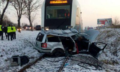 Śmiertelny wypadek na przejeździe kolejowym w Rzeszowie. Fot. Policja