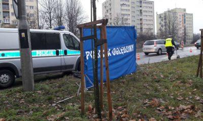 W Łodzi doszło do śmiertelnego potrącenia pieszej. Fot. Policja