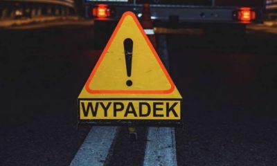 Wypadek, znak. Fot. Policja