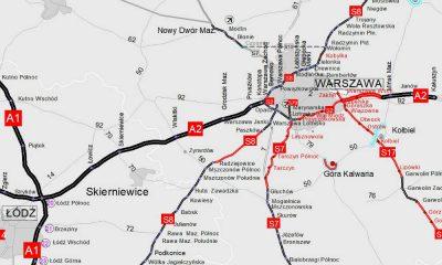 Mapa - planowana rozbudowa autostrady A2. Źródło: GDDKiA