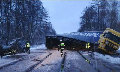 Śmiertelny wypadek w Domostawie. Fot. Policja