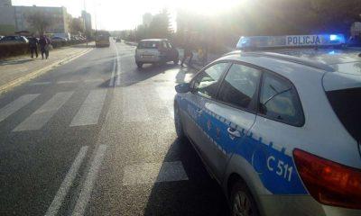 W Grudziądzu piesza została potracona, gdy przechodziła przez przejście dla pieszych. Fot. Policja