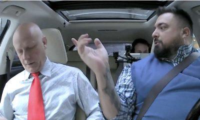 """Tomasz Sekielski w #OnetRano kazał pasażerowi zapiąć pasy, bo ktoś może o tym """"donieść"""" i mieć satysfakcję Źródło: YouTube"""