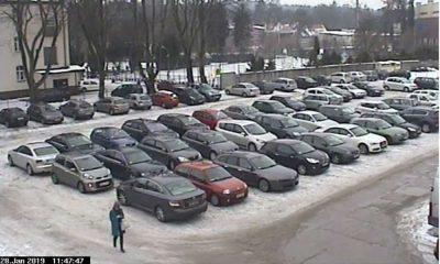 Zablokowany parking w Wejherowie. Fot. Straż Miejska w Wejherowie