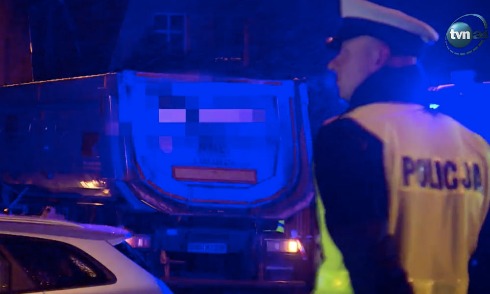 Kierowca ciężarówki zabił 10-latka na przejściu dla pieszych w Bielanach Wrocławskich Fot. Policja