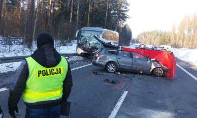 Wypadek drogowy w miejscowości Kabikiejmy Fot. Policja