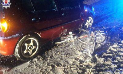 Potrącenie rowerzystów w miejscowości Uściąż. Fot. Policja