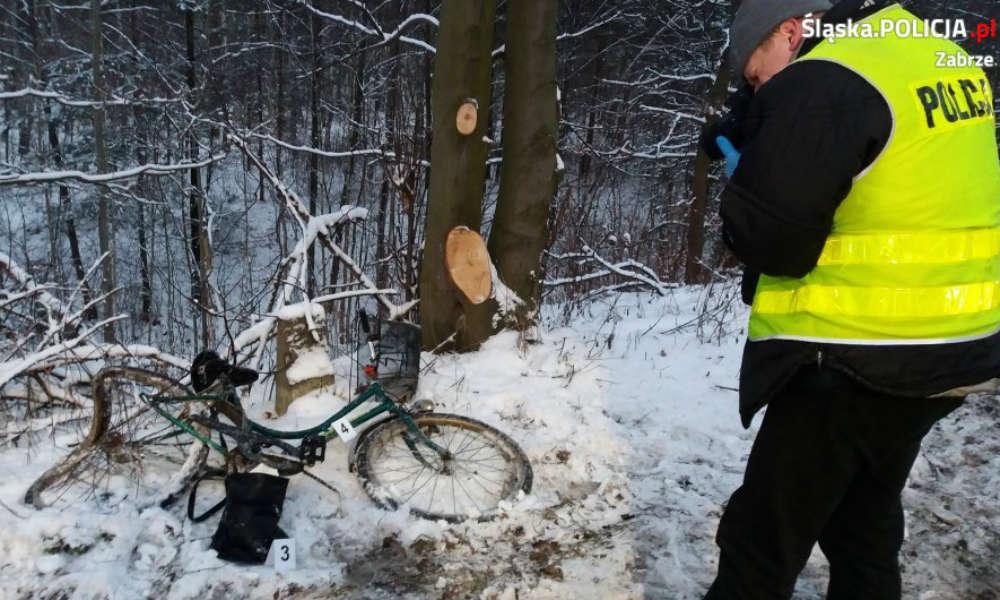 Śmiertelne potrącenie rowerzystki w Zabrzu. Fot. Policja