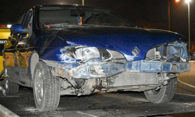 Pijany kierowca wjechał w pieszych na chodniku w miejscowości Zwierzyn Fot. Policja