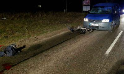 W Suszu kierowca najechał na rowerzystę, bo nie widział go przez oszronioną szybę Fot. Policja