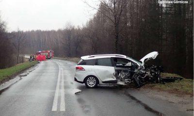 Pijany kierowca doprowadził do śmiertelnego wypadku w Dąbrowie Górniczej. Fot. Policja