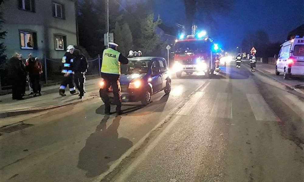 Potrącenie pieszej na przejściu dla pieszych w Nowym Dworze Gdańskim Fot. Policja