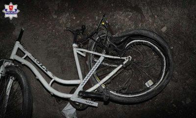 Kierowca potrącił rowerzystkę w Woli Piaseckiej i uciekł nie udzielając pomocy. Fot. Policja
