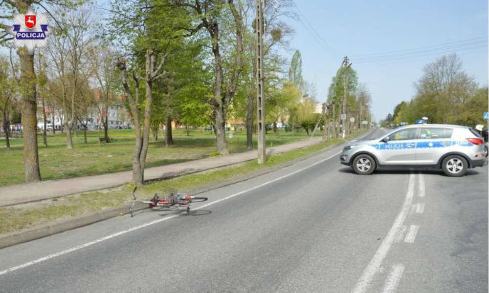 Potrącenie rowerzystki w Rejowcu Fabrycznym. Fot. Policja