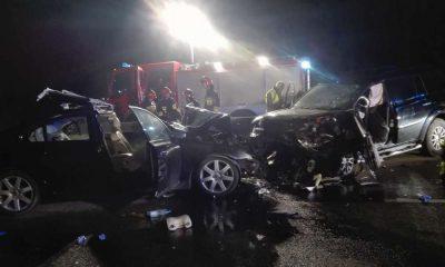 Śmiertelny wypadek na DK1 w Siedlcu Dużym Fot. Facebook/OSP Lgota Górna