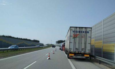Zatrzymany na S8 kierowca ciężarówki był kompletnie pijany. Fot. GITD