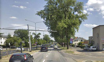 Fotoradar miejskiego systemu w Poznaniu na ul. Dąbrowskiego rejestruje ponad milion przekroczeń prędkości w 3 miesiące. Źródło: Google Maps
